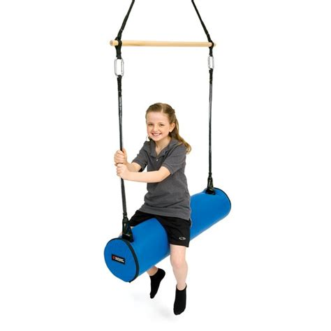 Babybee Kid Bolster Blue advantage line 2 in 1 pony bolster swing and trapeze bar
