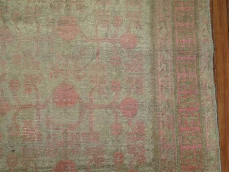 grey and pink rug gray and pink east turkestan khotan rug at 1stdibs