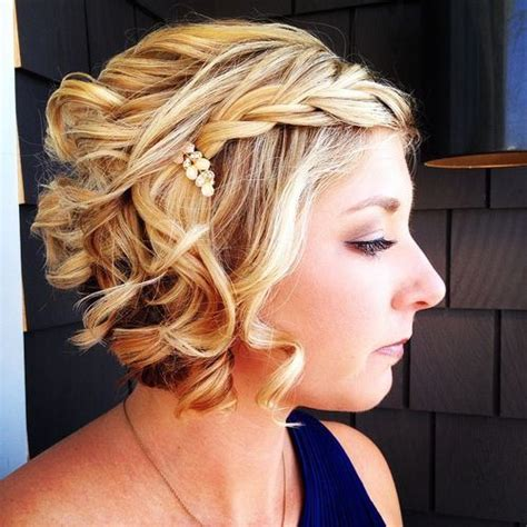 blonde bob updo 25 stunning prom hairstyles for short hair trendy prom
