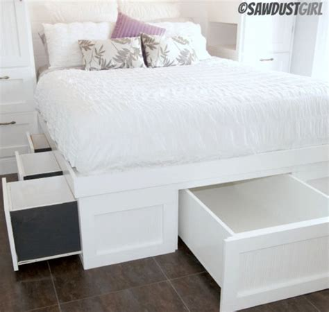 diy storage beds diy storage bed plans decoist