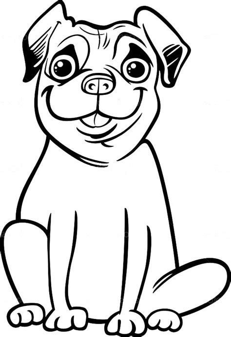 Big Smile of Pug Coloring Page   Color Luna