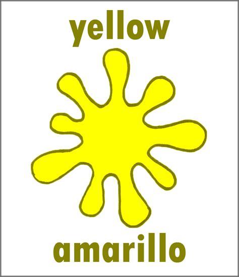 spanish for yellow yellow in spanish