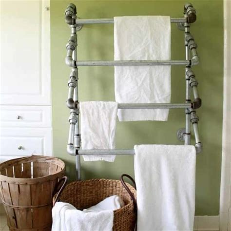 constructed rustic towel rack knockoffdecorcom