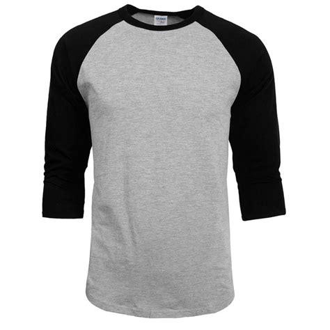 Raglan Sleeve Plain T Shirt fashion 3 4 sleeve plain t shirt baseball raglan