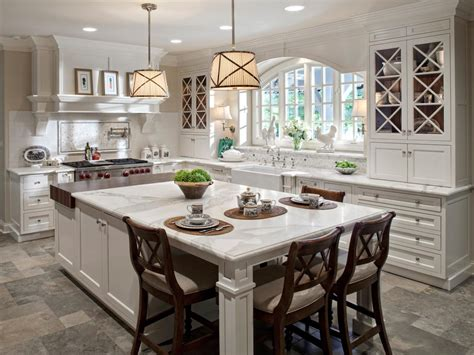 kitchen island design with seating photo page hgtv