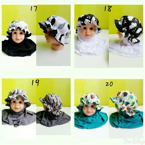 Jilbab Anak Combi Polka Topi jual jilbab topi jilbab anak jilbab baby jilbab lucu kerudung anak finyuz shop