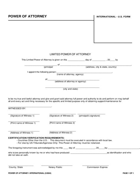 Limited Power Of Attorney Form 37 Free Templates In Pdf Limited Power Of Attorney Word Template