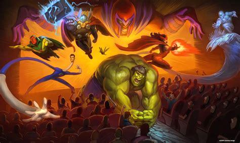 theme park hero marvel superhero theme park concept art geektyrant
