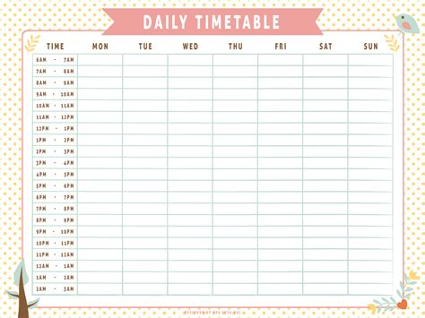 The Daily Table by Daily Timetable Whimsical By Apparate On Deviantart