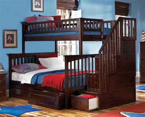 bunk bed for boy wood bunk bed for boys with stairs with storages home design