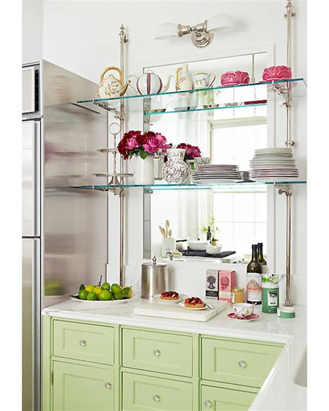 Glass Shelves Kitchen Cabinets Glass Kitchen Shelves Transitional Kitchen One