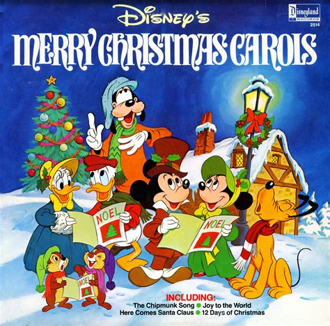 disney merry christmas carols disneyland records 2514