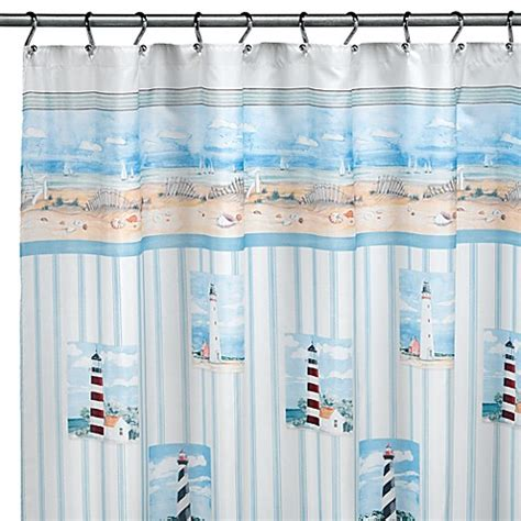 Lighthouse Shower Curtains Lighthouse Shower Curtain By Saturday Limited Bed Bath Beyond