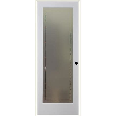 Prehung Interior Doors With Glass Shop Reliabilt Hamilton Solid Frosted Glass Single Prehung Interior Door Common 28 In X