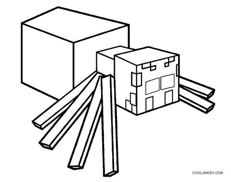 minecraft coloring pages cave spider extraordinary minecraft spider coloring pages kids