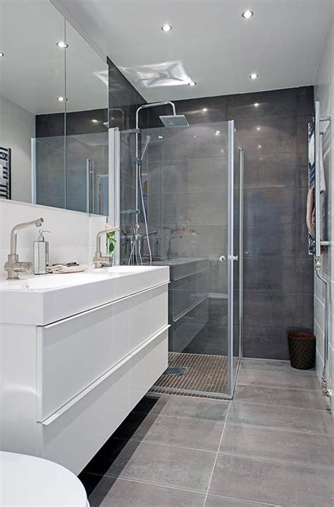 Modern Grey Bathroom 40 Gray Shower Tile Ideas And Pictures