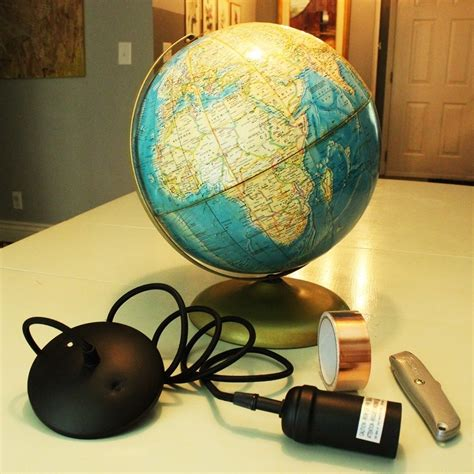 Diy Globe Pendant Light A And Easy Lighting Upgrade