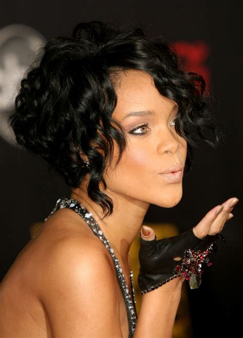 pictures short bobs for black women 2013 rihanna short curly stacked bob hairstyles hairstyles weekly