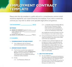 standard employment contract template employment contract 9 documents in pdf doc