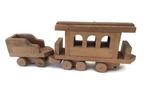 Handmade Wooden Trains - vintage prison folk wooden handmade wood