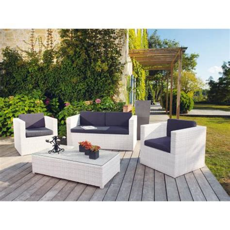 salon de jardin en resine blanc ensemble acapulco en r 233 sine tress 233 e blanc cjkr11 12 4365 21 achat vente salon de jardin