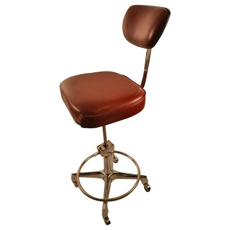 Swivel Stool Chair Industrial Drafting Stool Swivel Chair At 1stdibs