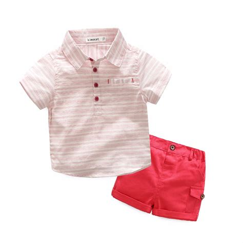 Sale N Bab Shirt Plaid Tie kimocat baby boy clothes bebe gentleman clothing sets plaid bow tie shirt overalls shorts