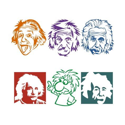einstein clipart albert einstein cuttable design