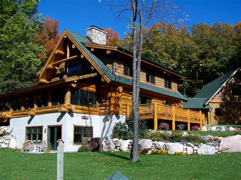 Handcrafted Homes Inc - silver creek lodge timber wolf handcrafted log homes inc