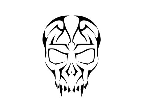 tribal skull tattoo designs free clipart library clip