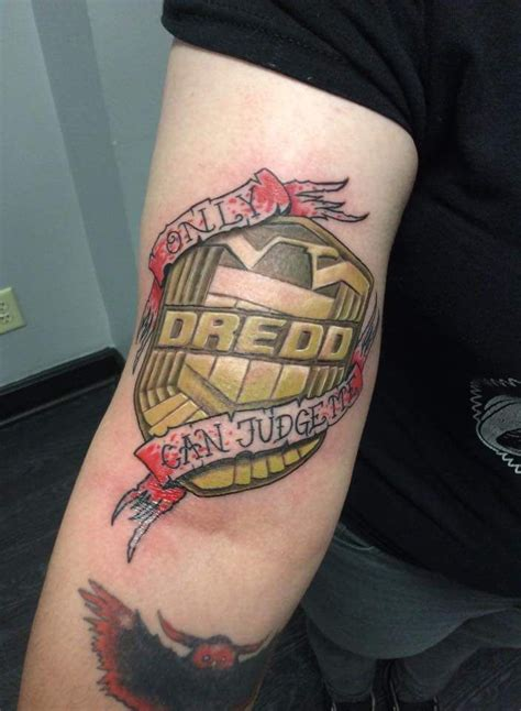 no regrets tattoo chaign il judge dredd badge by joshua at no regrets in