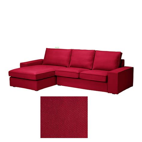 chaise lounge sofa covers ikea kivik 2 seat loveseat sofa w chaise lounge slipcover