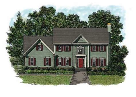 Colonial Garage Plans by Colonial Style House Plans 1999 Square Foot Home 2