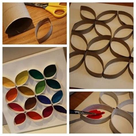 Empty Toilet Paper Roll Crafts - cheap toddler craft using empty paper towel toilet paper rolls