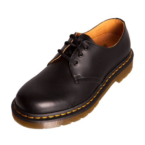 dr doc martens 1461 black leather classic shoe goodyear