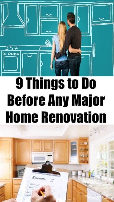 9 things to do before any major home renovation home