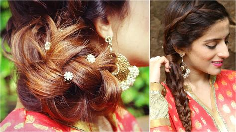 Indian Wedding Hairstyles For Hair by 3 Indian Hairstyles For Medium To Hair Indian