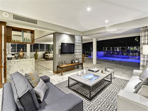 interior style of luxury apartment in brisbane design comfortable grey living room iroonie