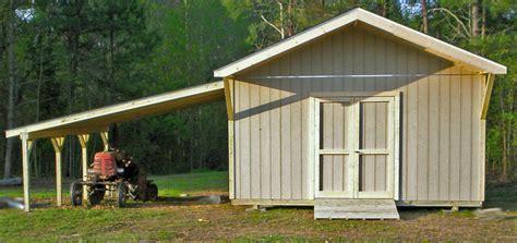 excellent storage shed  attached carport