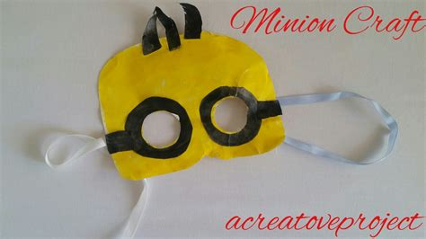 minion crafts for a creative project minion craft minion mask diy