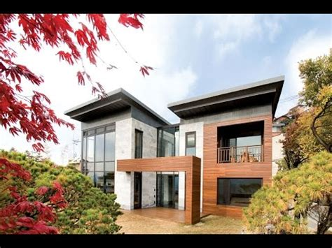 korean house design modern house with floorplan in korea p house by hahn design my building plans