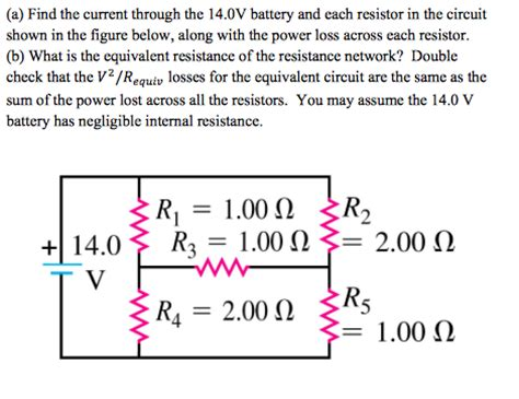 find the current and voltage across each resistor physics archive july 13 2016 chegg