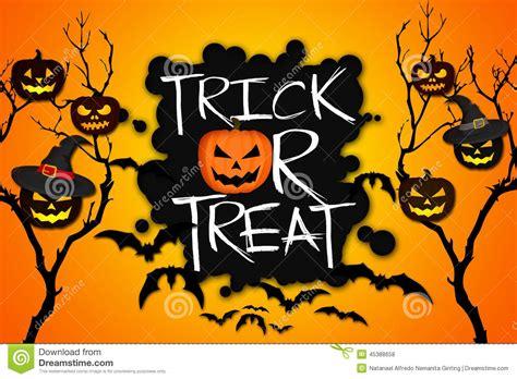 Trick Or Treat Graphic 8 trick or treat tree pumpkins bats orange