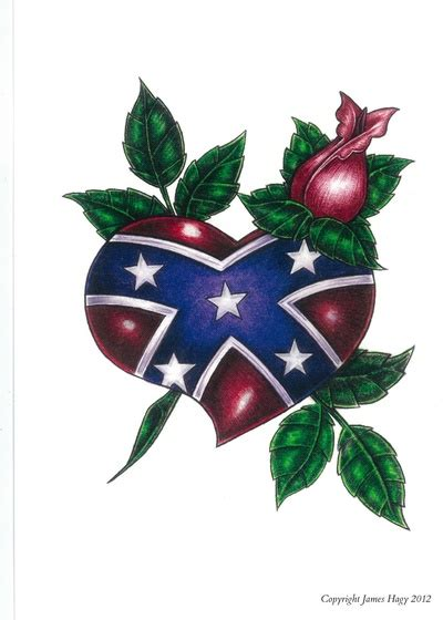 Rebel Flag Home Decor by Confederate Heart And Rose Art Print By H7 Art Designs