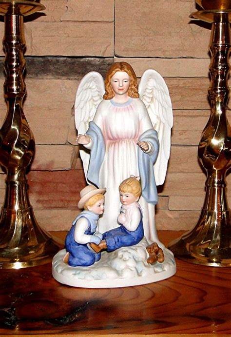 home interior denim days figurines denim days guardian angel home interiors homco christmas