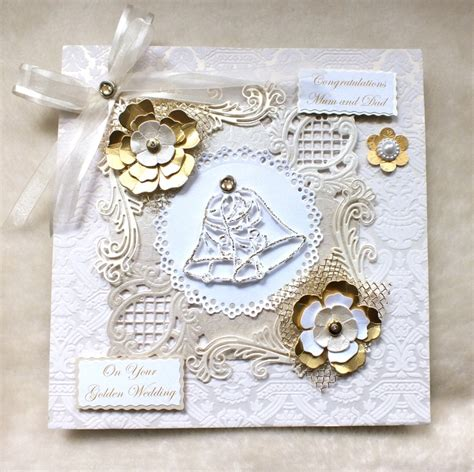 Handmade Golden Wedding Cards - 17 best images about noces d or on anniversary