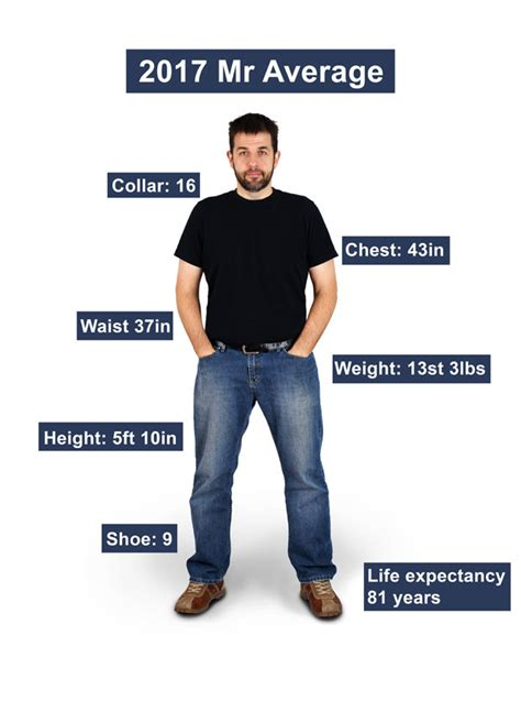 what is the average size of a 2 bedroom apartment average male figure revealed how do you compare to today