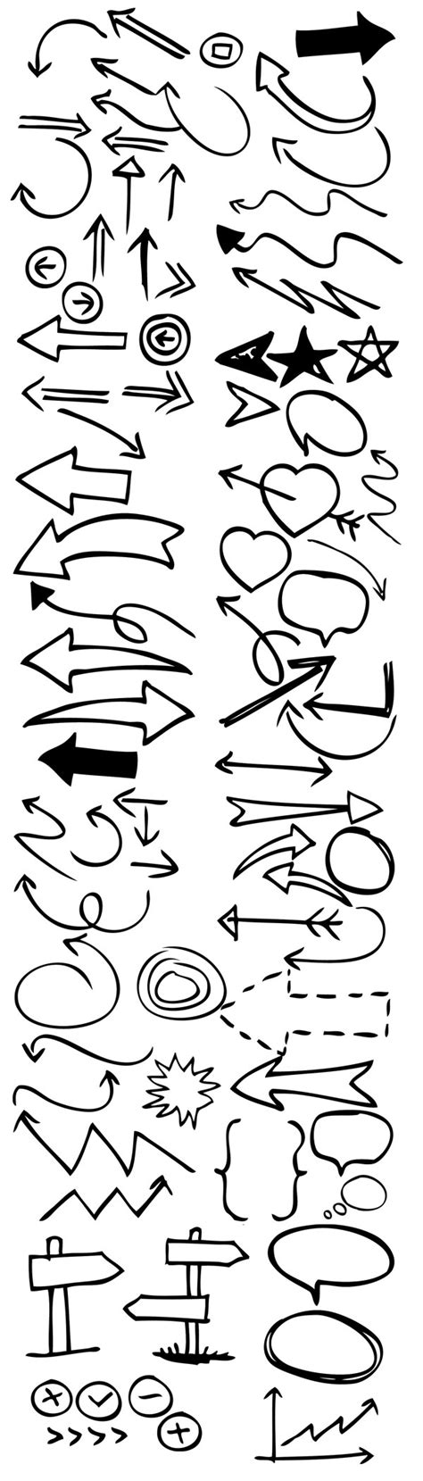hand drawing pattern photoshop 90 hand drawn arrow and symbol photoshop brushes
