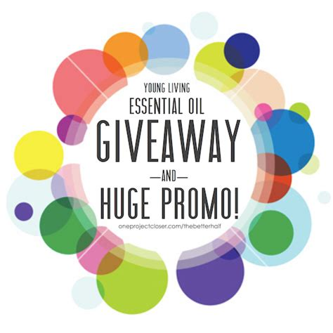 Essential Oil Giveaway - giveaway and essential oil promo