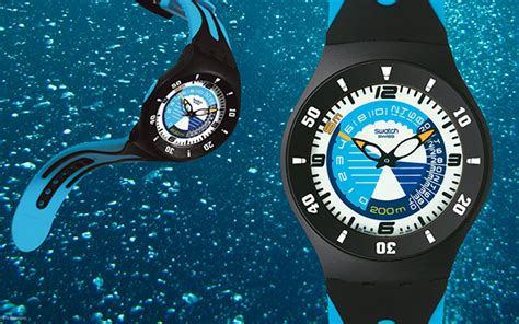 swatch sport active scuba boarder watches on